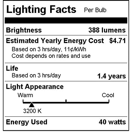 25 Pack Sunlite 40ETC//32//25PK 40W Incandescent Torpedo Tip Chandelier with Crystal Clear Light Bulb and Medium E26 Base