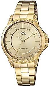 Q&Q Men's Gold Dial Stainless Steel Band Watch - Q967J010Y - Gold