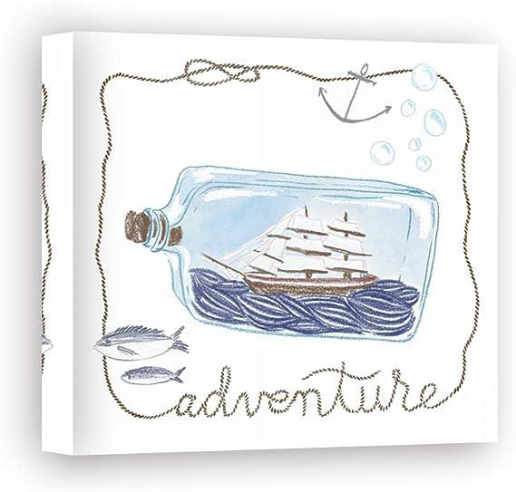 Impresión sobre Lienzo Wall Art Zieve Miller Sara Ship in a Bottle Adventure: Amazon.es: Hogar