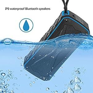 Bluetooth Speakers IPX6 Waterproof Dustproof Shockproof Superior 3D Stereo Speakers with Dual-Driver and Built-in Mic Wireless Speakers 33-Foot Bluetooth Range Portable Speaker