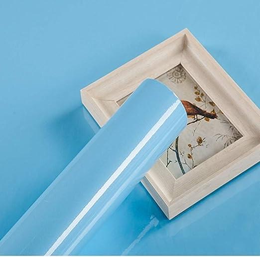 Papel Adhesivo para Muebles Brillar Azul 30cmX3 m Papel pintado ...
