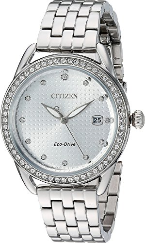 Citizen Watches Women's FE6110-55A Eco-Drive Silver One Size (Citizen 55a Drive Eco)