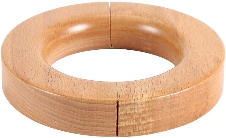 45 mm avec yeux Crochet Pole Rod Vendeur Britannique En bois massif anneaux de rideau en bois 38 mm