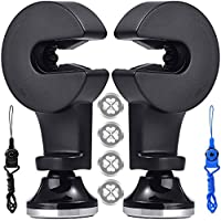 Magnetic Car Mount Cell Phone Holder Hook for Backseat Headrest, FineGood 2 Pack 360 Degree Rotation Universal Organizer for Smartphone iPad Tablet GPS and E-Reader - Black