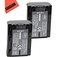 BM Premium 2-Pack Of NP-FH50 Batteries for Sony Alpha DSLR-A230 DSLR-A290 DSLR-A330 DSLR-A380 DSLR-A390 Digital SLR Camera + More!!