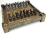 HPL Dragon Fantasy Gothic Medieval Times Chess Set W Castle Board 17'