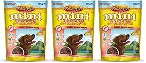 Zukes Mini Naturals SIjRR Healthy Moist Training Treats, Salmon, 1 Pound (3 Pack)