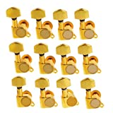 2sets of 12R K-803 Guitar String Tuning Pegs Tuners Machine Heads Gold