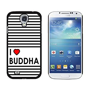 I Love Heart Buddha - Religious - Snap On Hard Protective Case for Samsung Galaxy S4 - Black