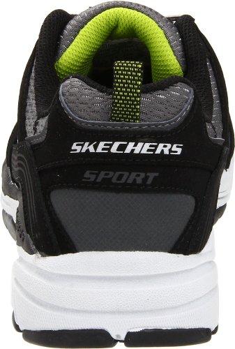 Skechers Sport Menns Refleks Joggesko Svart / Kull