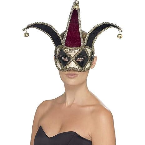 Smiffys 27653 Déguisement Adulte Masque De Venise Arlequin Gothique