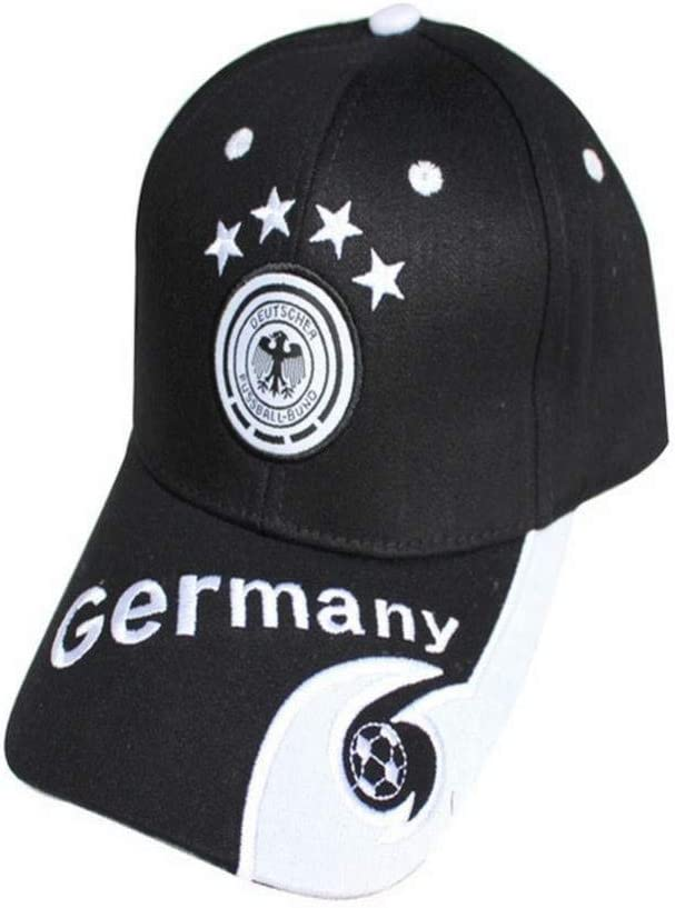Talla /Única S-C Alemania un tama/ño Fan/áticos Del Equipo Nacional Gorras de B/éisbol Bordadas Gorras de Visera Italia