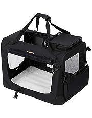 FEANDREA Dog Carrier Folding Fabric Pet Carrier Lightweight Pet Cage Bag Pet Car Seat Pet Booster Seat Black