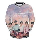 YJQ Unisex Kpop BTS Jacket Love Yourself Tear Sweatshirt Baseball Jacket Coat for Men Women Teen Girs and Boys(L Pink)