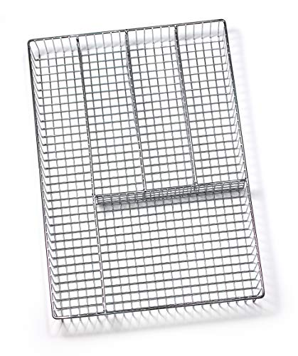 (Spectrum Diversified Grid Silverware Tray, Large, Chrome)