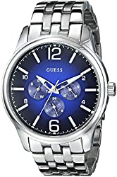 GUESS Men's U0252G2 On Time Stainless Steel Watch