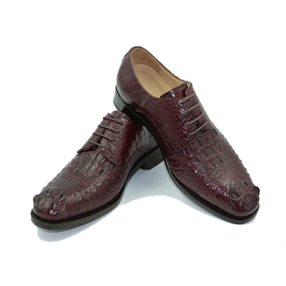 High End Custom Herren Lederschuhe Geschäft Casual Casual Casual Handmade Runde Kopf Niedrig Top Schuhes WineROT 7f85dc