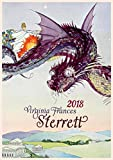 "Wall Calendar 2019 [12 pages 8""x11""] Amazing Fantasy Scenes by Virginia Sterret Vintage Art Poster"