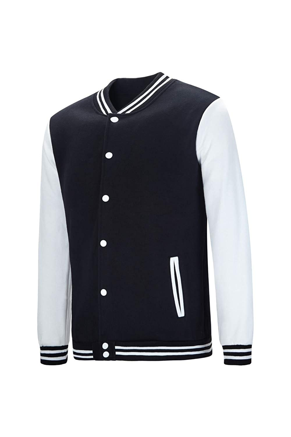 a231f1a6e9 TRIFUNESS Varsity Jacket Letterman Jacket Baseball Jacket with Long Sleeve  Banded Collar