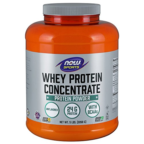 - NOW Sports Whey Protein Concentrate Unflavored Powder,5-Pound