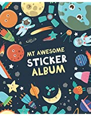 My Awesome Sticker Album: Blank Sticker Book for Collecting Stickers | Reusable Sticker Collection Album for Kids - Space Design