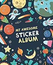 My Awesome Sticker Album: Blank Sticker Book for Collecting Stickers | Reusable Sticker Collection Album for K