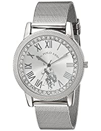 U.S. Polo Assn. Women's Quartz Metal and Alloy Casual Watch, Color:Silver-Toned (Model: USC40109)