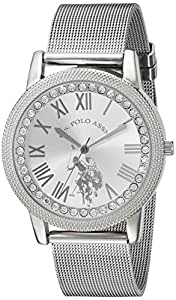 U.S. Polo Assn. Women's Analog-Quartz Watch with Alloy Strap, Silver, 18 (Model: USC40109