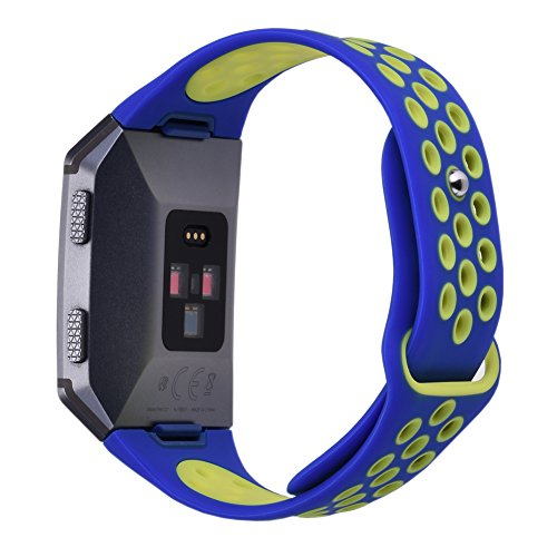 XiangMi Compatible Fitbit Ionic Bands,Soft Silicone Sport Breathable Replacement Accessories Bracelet Strap Band Ventilation Holes Compatible Fitbit Ionic Smart Fitness Watch Women ()