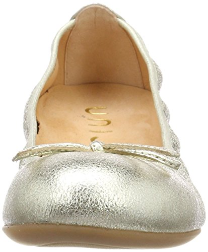 Unisa Damen ACOR_18_SE Geschlossene Ballerinas Gold (Platino)