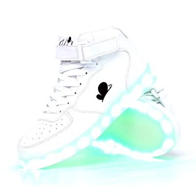 Soy Luna Disney Karol Sevilla´s White LED Sneakers. USB Charge. Non-Slip Sole | Sneakers