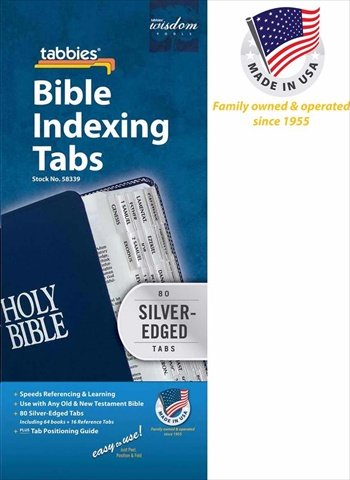 Tabbies Bible Index Tabs - Silver Edge, used for sale  Delivered anywhere in USA
