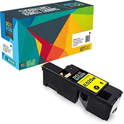 Do it Wiser Compatible Toner Cartridge Replacement for Dell E525W E525 525W | 593-BBJW Yellow