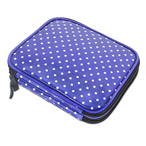 Case, Travel Storage Bag for Various Crochet Needles and Accessories, Lightweight and All in One Place, Easy to Carry, Purple Dots(No Accessories Included) ()