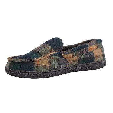 75099f1b1060c JO   JOE pour Homme en suédine Polaire doublé en Tweed à Enfiler Chaussons  Chaussures Taille