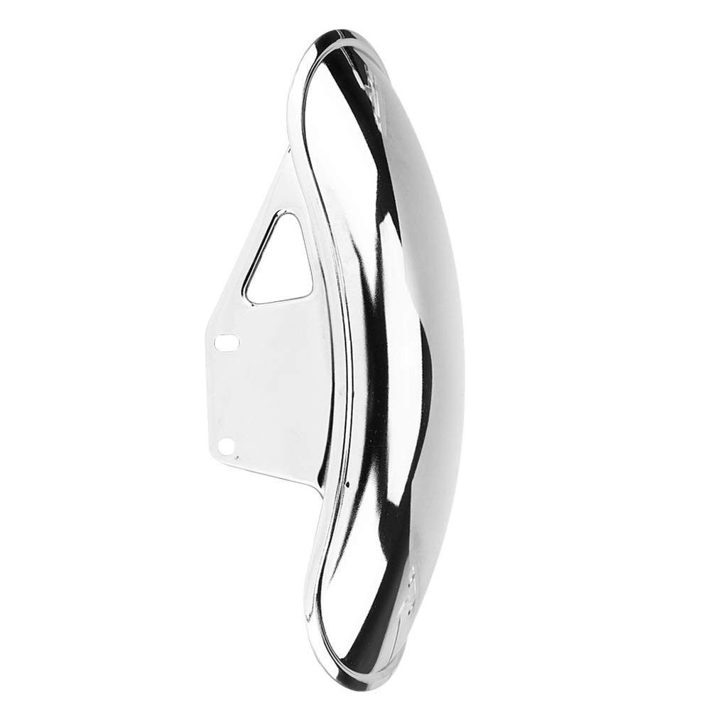 Front Fender Fairing Cover-Motorcycle Front Fender Mud Flap Guard Fairing Mudguard Cover for Suzuki GN125 GN250 Chrome Color : Black