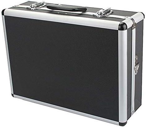 ChenCheng ツール収納ボックス - 黒の厚いアルミ修理ツール収納ボックスファミリーカーポータブルポータブルツールボックス ツールボックスストレージと組織 (Size : 458mmX330mmX150mm)