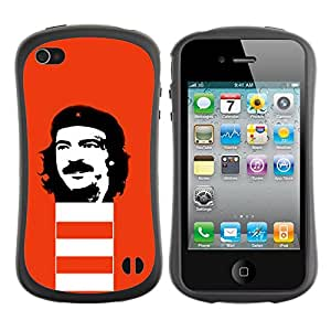 Be-Star Impreso Colorido Diseño Antichoque Caso Del iFace Primera Clase Tpu Carcasa Funda Case Cubierta Par Apple iPhone 4 / iPhone 4S ( Funny Rebel Face )