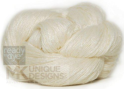 Undyed Ready to dye 100% Silk Lace Weight Yarn (Yarn Silk Wool)