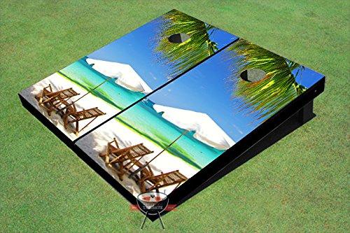 (Floating Pong Two Beach Chairs Cornhole Set, 1x2 (12