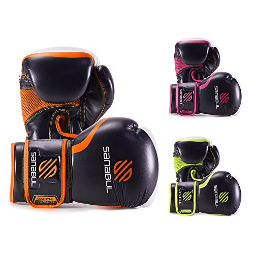 ESSENTIAL BOXING GLOVES ORANGE 14-OZ