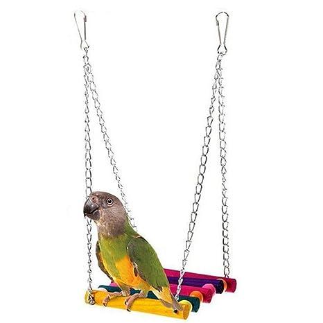 Maus Papagei Vogel Spielzeug Schaukel Hamster Holz Hängend Haus Swing Käfig Schaukeln & Ringe