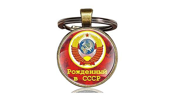 DADATU Llavero Oro Clásico URSS Insignias Soviéticas Sickle ...