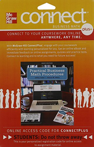 Connect 1 Semester Access Card For Practical Business Math Procedures Brief Edition