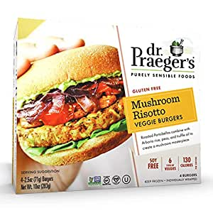 Dr. Praeger's Mushroom Risotto Veggie Burgers, 4 Count (Frozen)