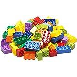 SYGA 100 Pcs Toy Building Bricks Educational Game Blocks Kit for Age 3+ Children (Transparent Bag)