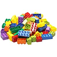 SYGA 100 Pcs Toy Building Bricks Educational Game Blocks Kit for Age 3+ Children (Transparent Bag)