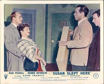 SUSAN SLEPT HERE DEBBIE REYNOLDS DICK POWELL LOBBY CARD