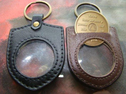 AA Medallion KeyChain Holder-Leather