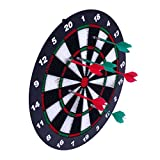 yifan safety kids dartboard set, 16.5 inch rubber dart board with 6 soft tip darts outdoors and